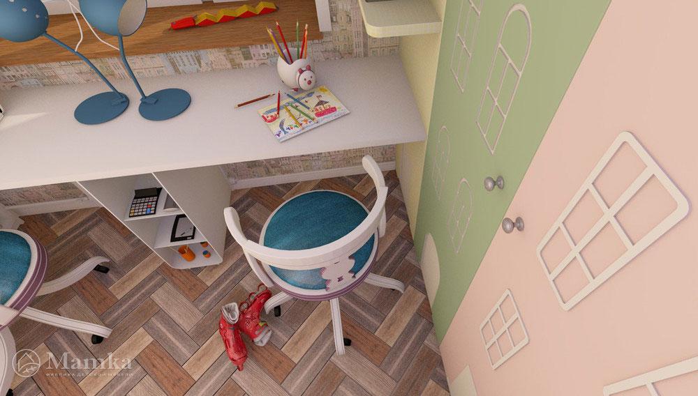 Самый необычный дизайн детской для двух детей 10