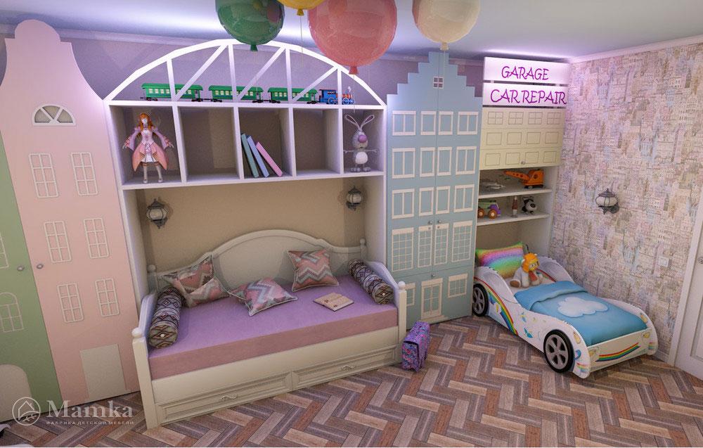 Самый необычный дизайн детской для двух детей 5