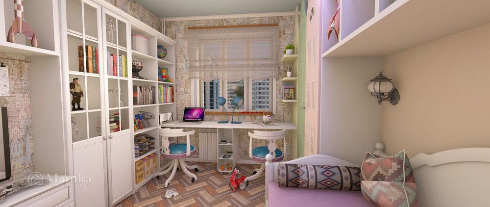 Изумительно красивый и необычный дизайн детской комнаты