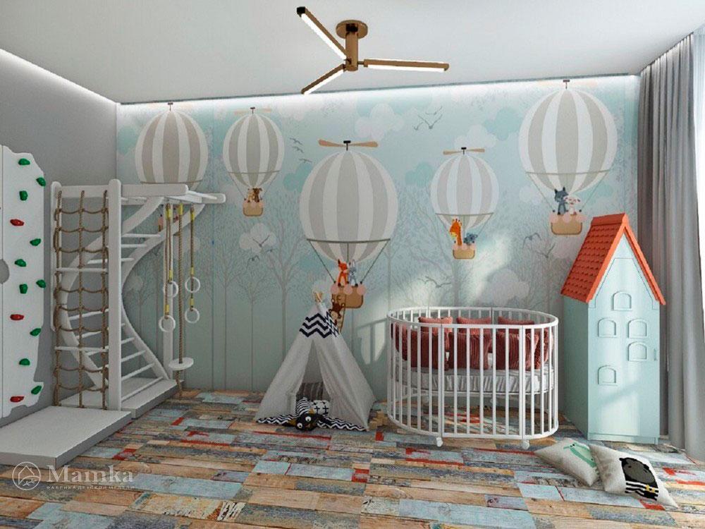 Необычный дизайн маленькой детской комнаты для мечтателей 1