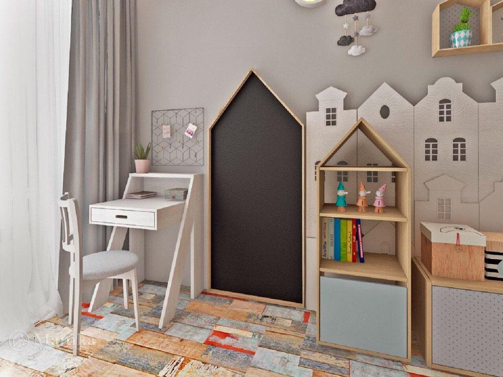 Необычный дизайн маленькой детской комнаты для мечтателей 2