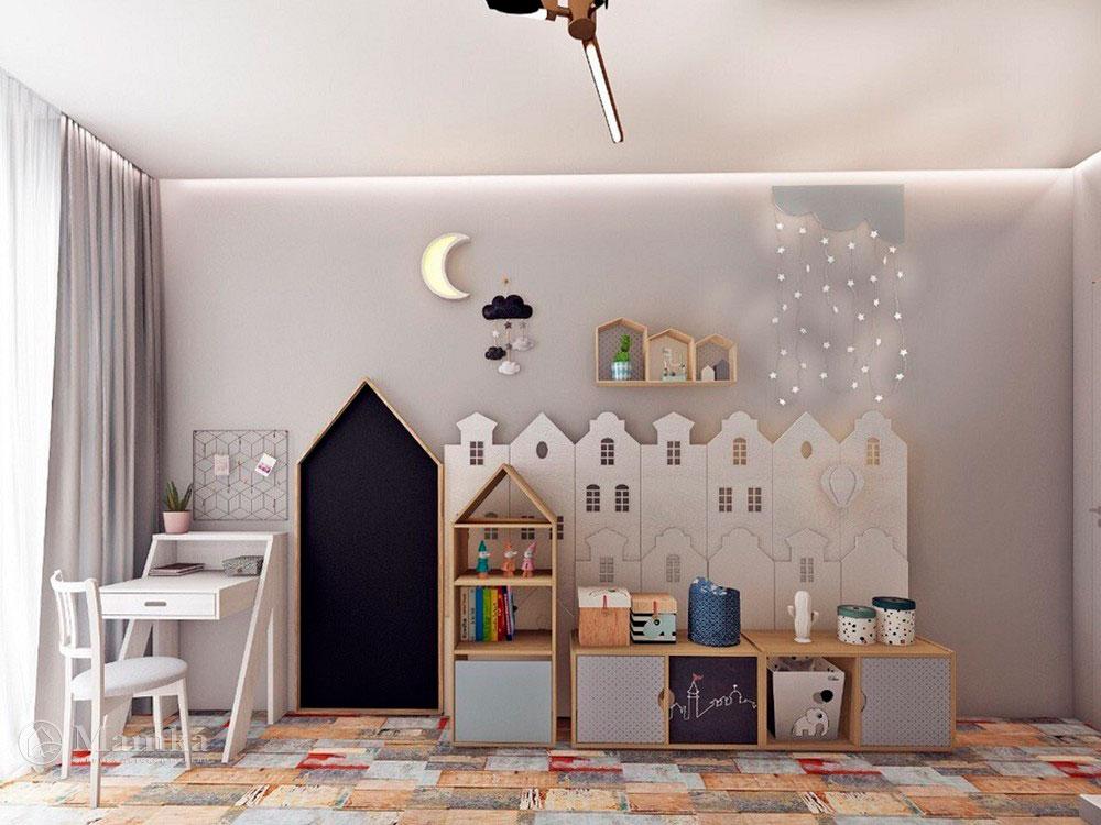 Необычный дизайн маленькой детской комнаты для мечтателей 3