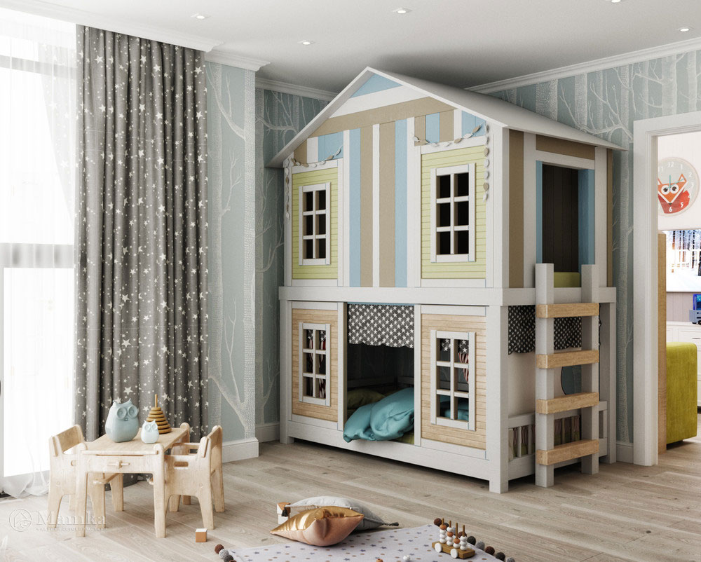 Необычный интерьер детской комнаты 2