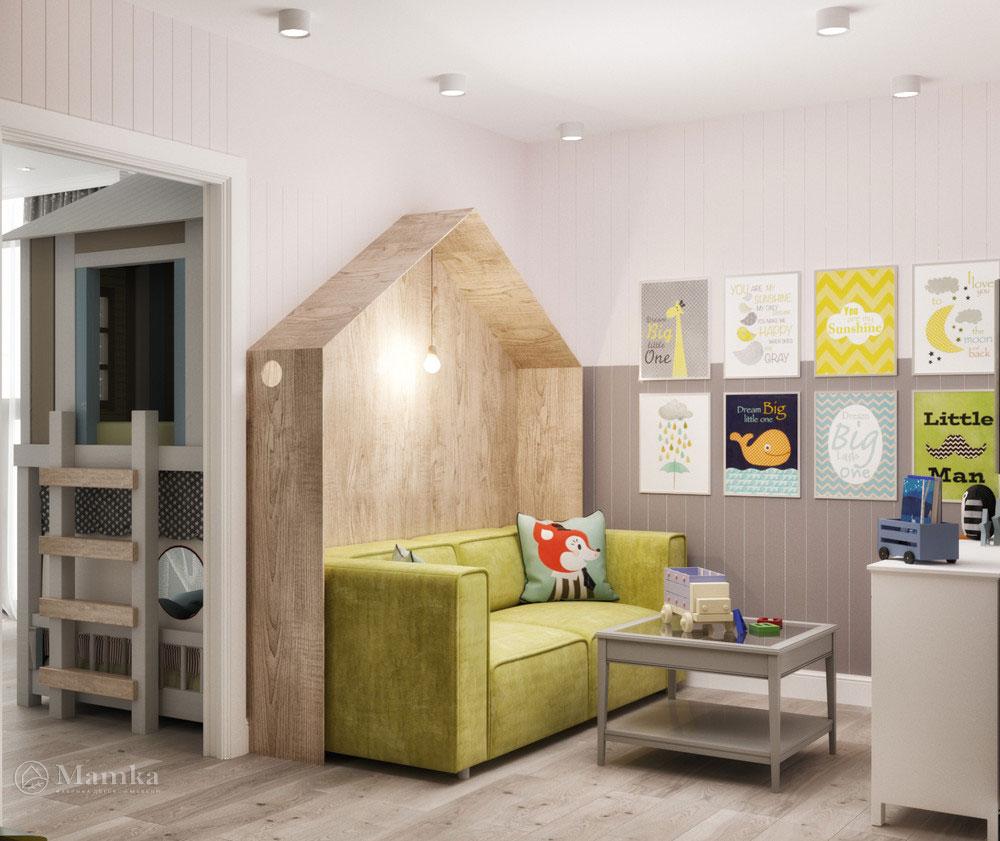 Необычный интерьер детской комнаты 4