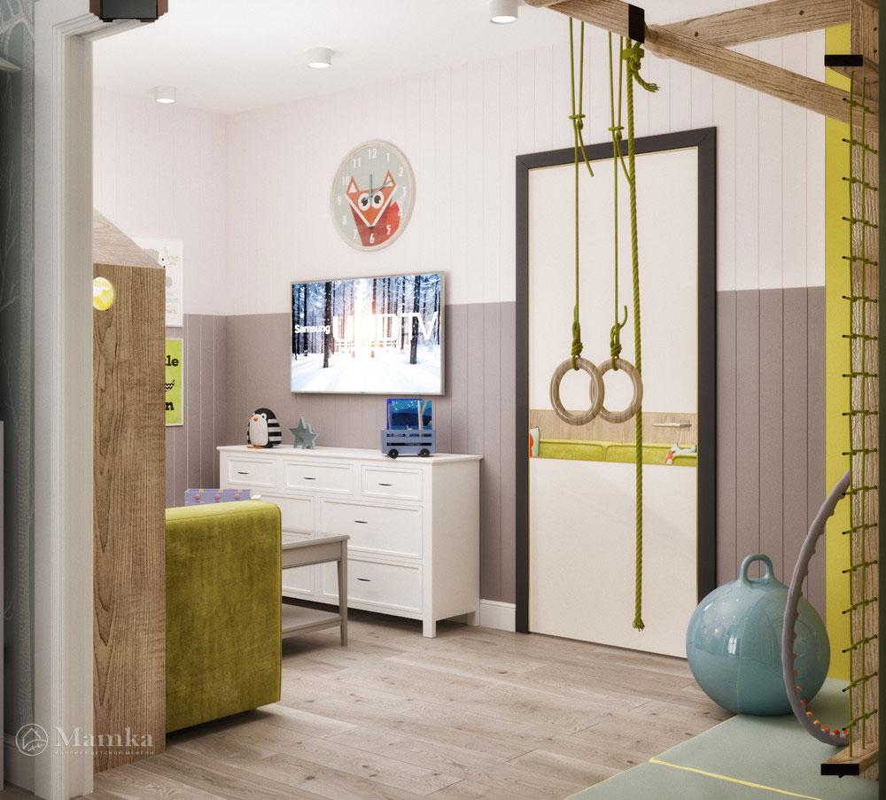 Необычный интерьер детской комнаты 5