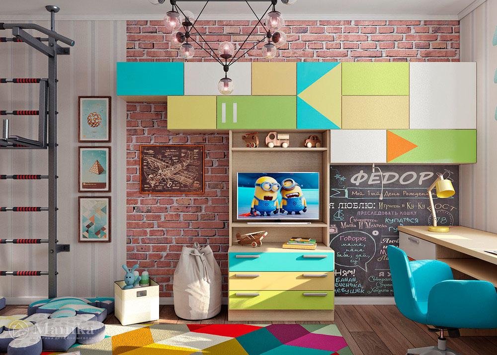 Неординарная и яркая идея для детской комнаты 1