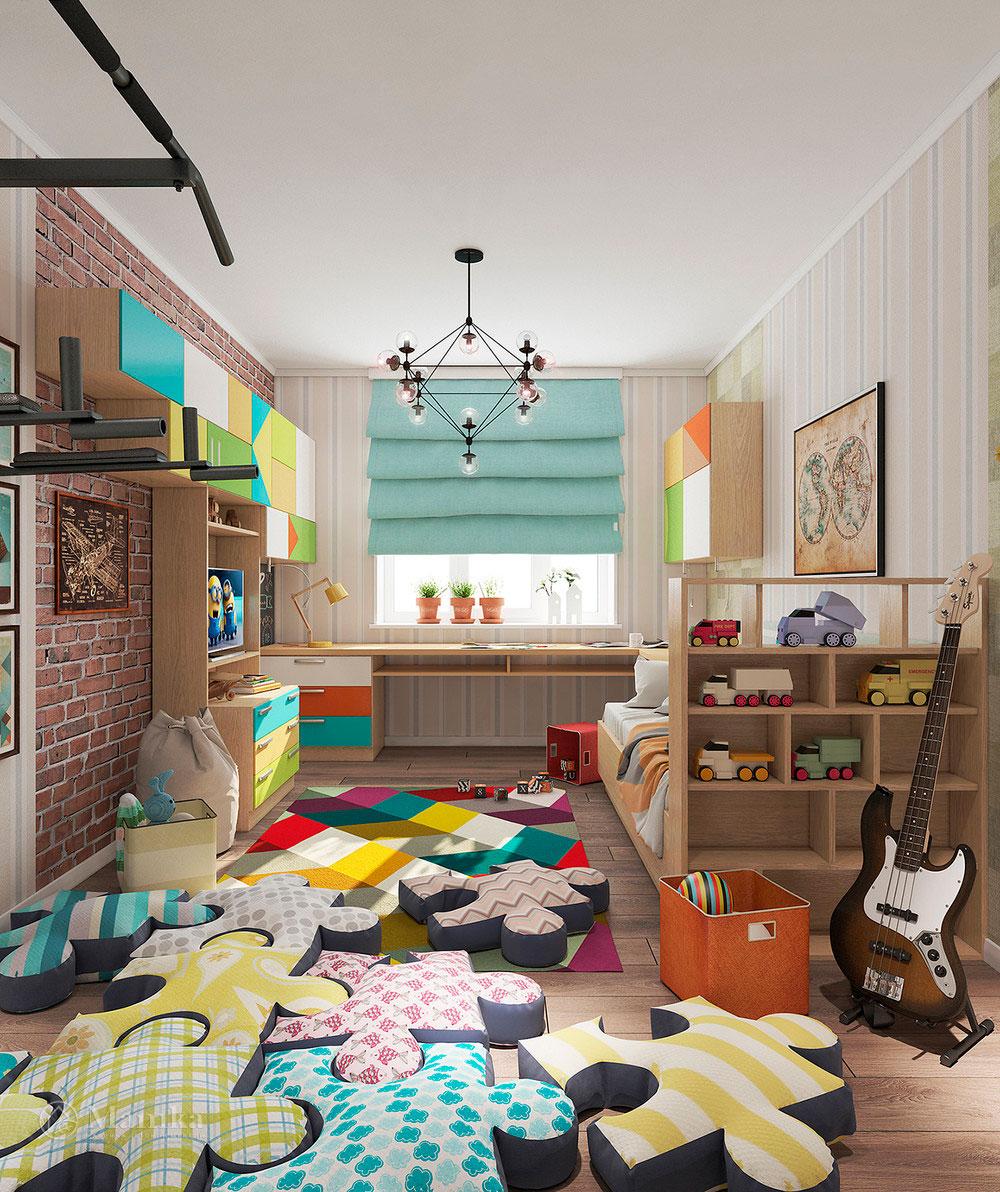 Неординарная и яркая идея для детской комнаты 2