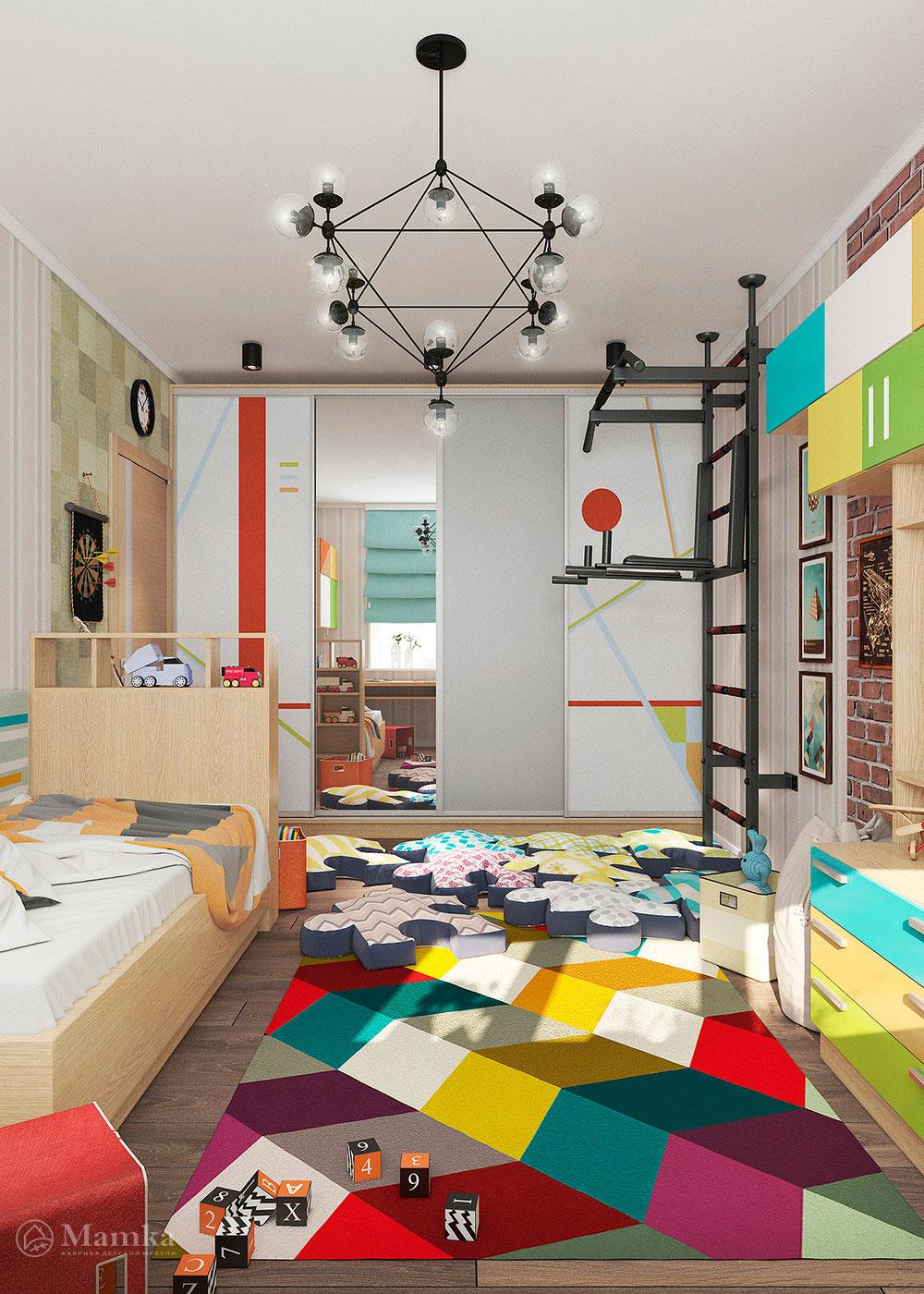 Неординарная и яркая идея для детской комнаты 4