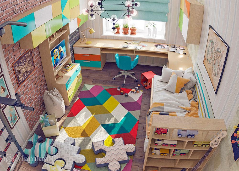 Неординарная и яркая идея для детской комнаты