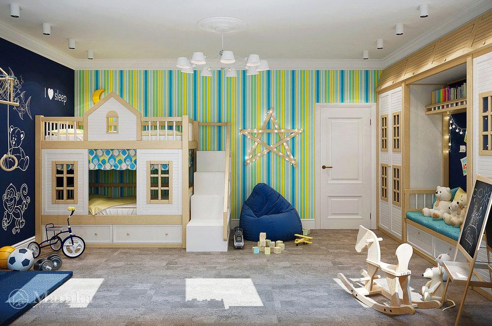 Неординарная идея для детской комнаты ребенка 2