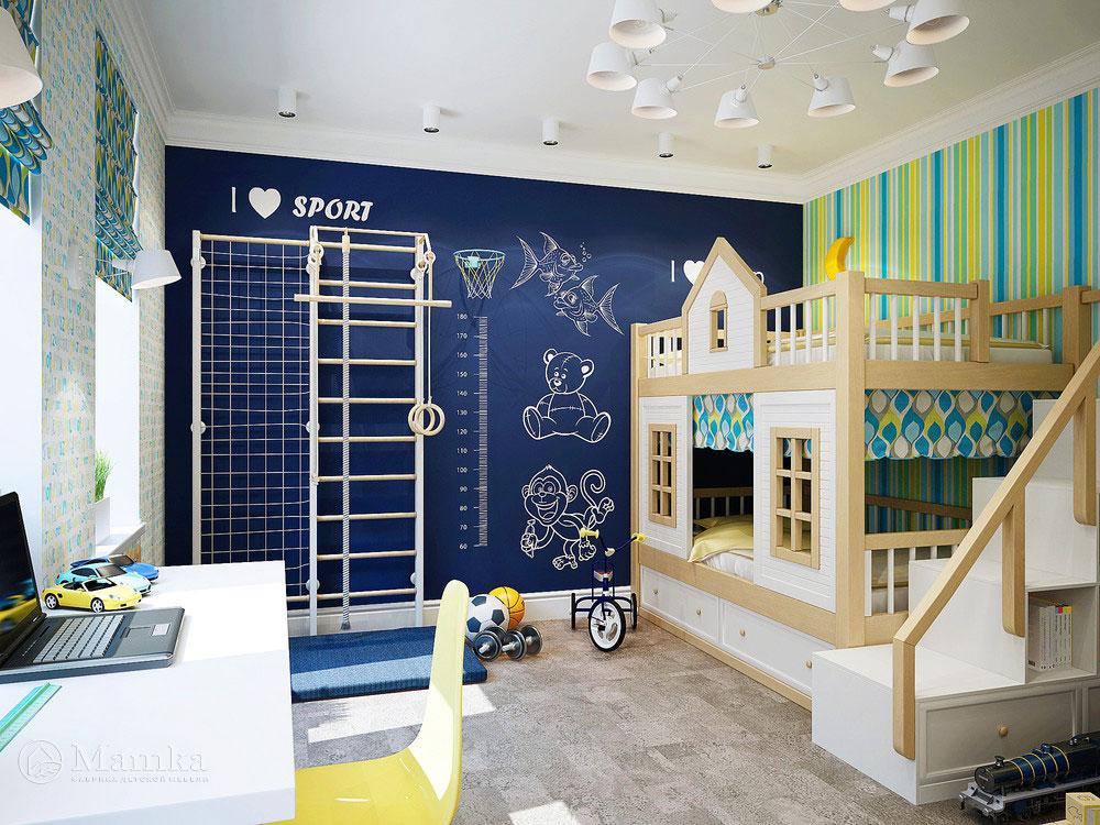 Неординарная идея для детской комнаты ребенка 3