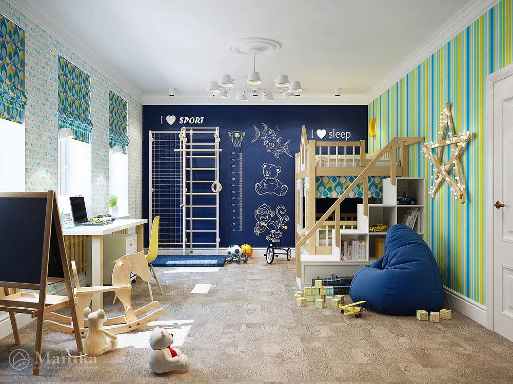 Неординарная идея для детской комнаты ребенка 4