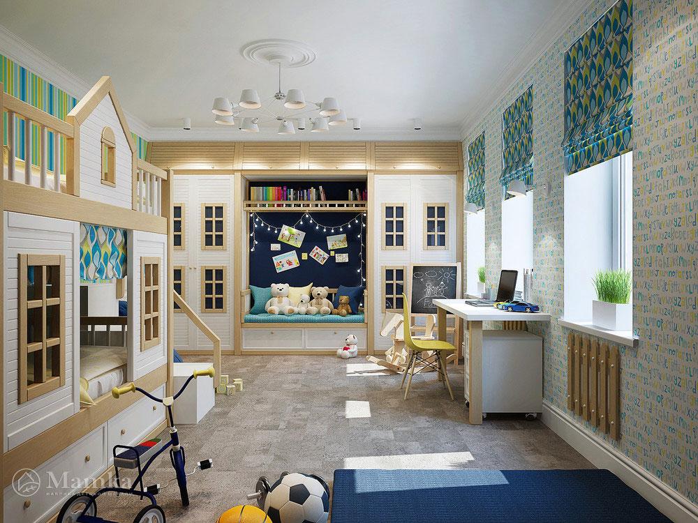 Нестандартная идея для детской комнаты — комбинируем различные локации на небольшой площади