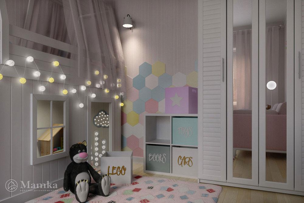 Неординарные и стильные идеи детской комнаты для девочки 1