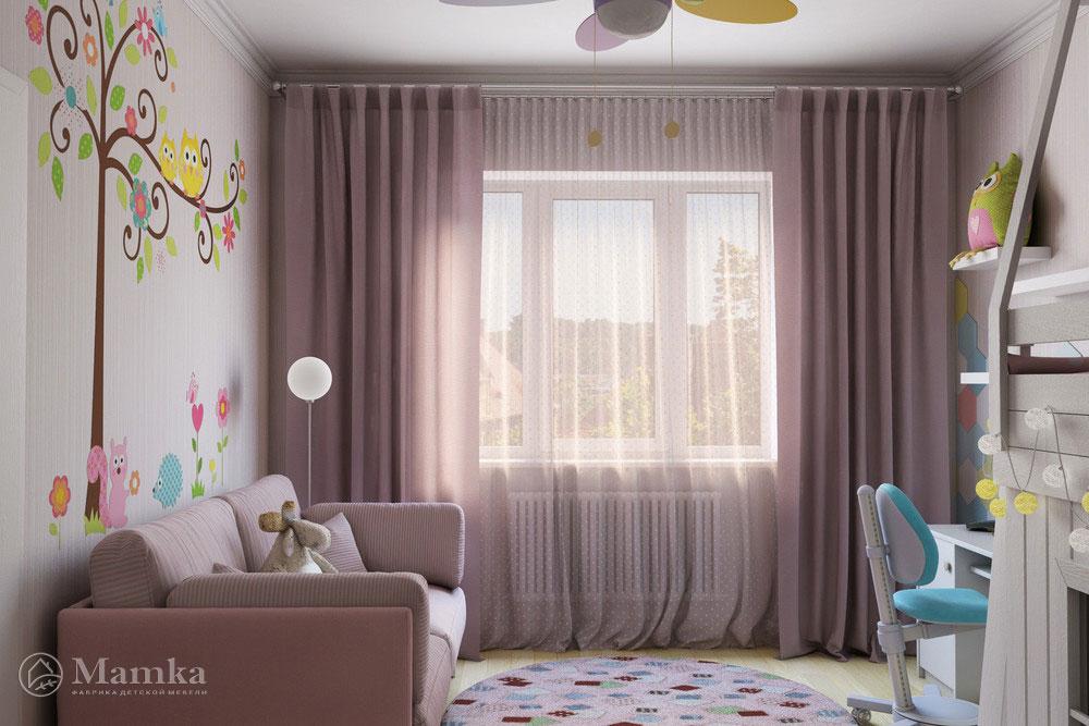 Неординарные и стильные идеи детской комнаты для девочки 2