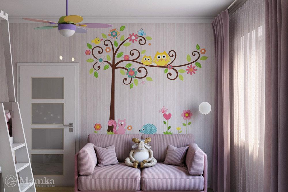 Неординарные и стильные идеи детской комнаты для девочки 3