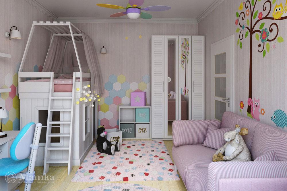 Креативные идеи детской комнаты для девочки — пудровое очарование