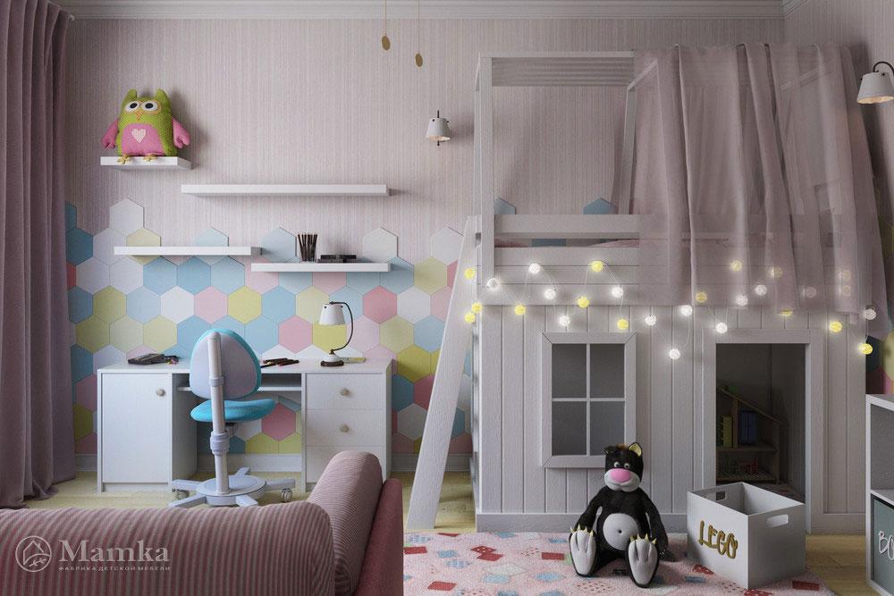 Неординарные и стильные идеи детской комнаты для девочки 5