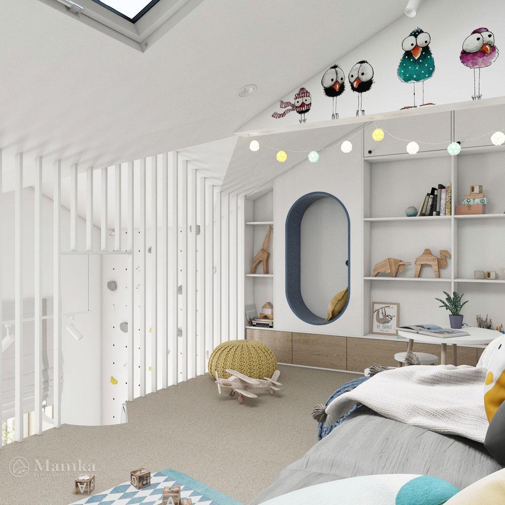 Неординарный дизайн детской комнаты для ребенка 10