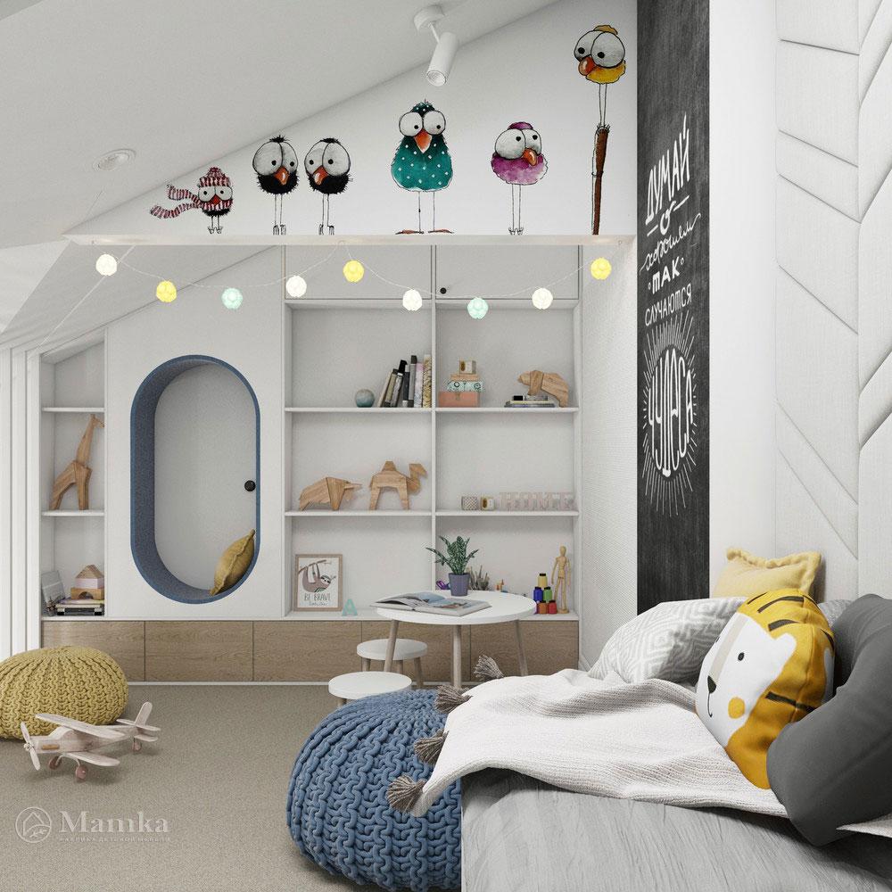 Неординарный дизайн детской комнаты для ребенка 11