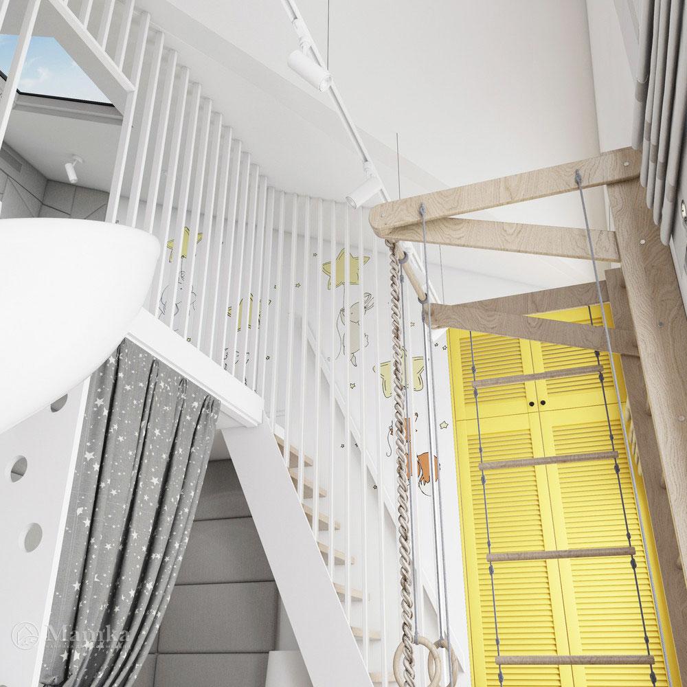 Неординарный дизайн детской комнаты для ребенка 12