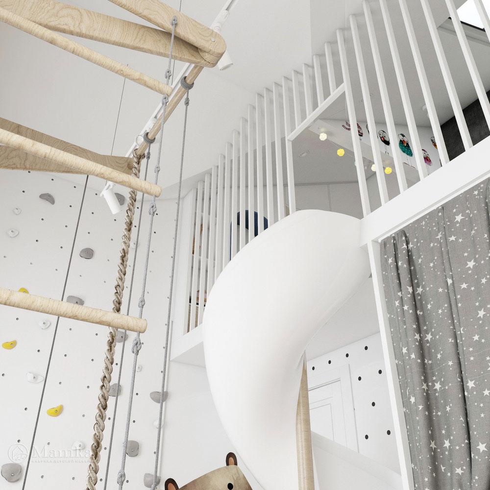 Неординарный дизайн детской комнаты для ребенка 14