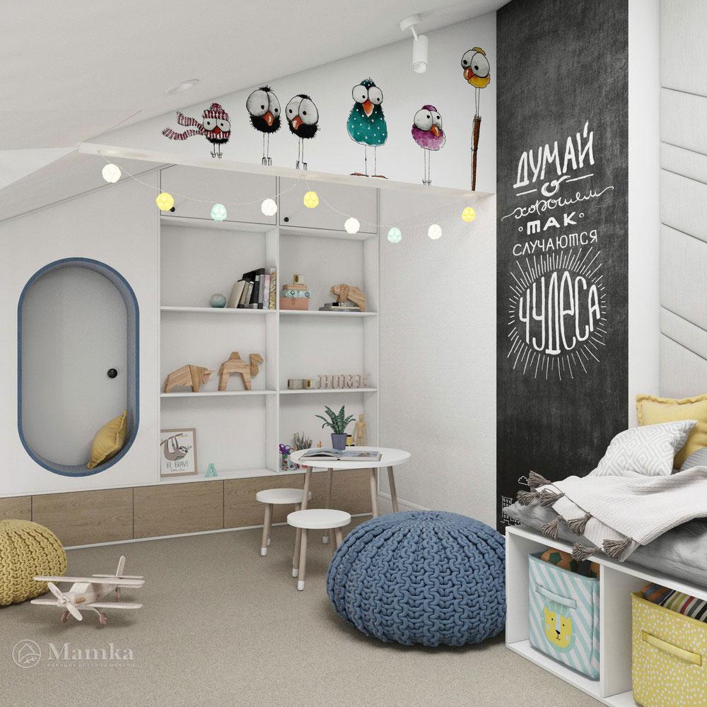 Неординарный дизайн детской комнаты для ребенка 15