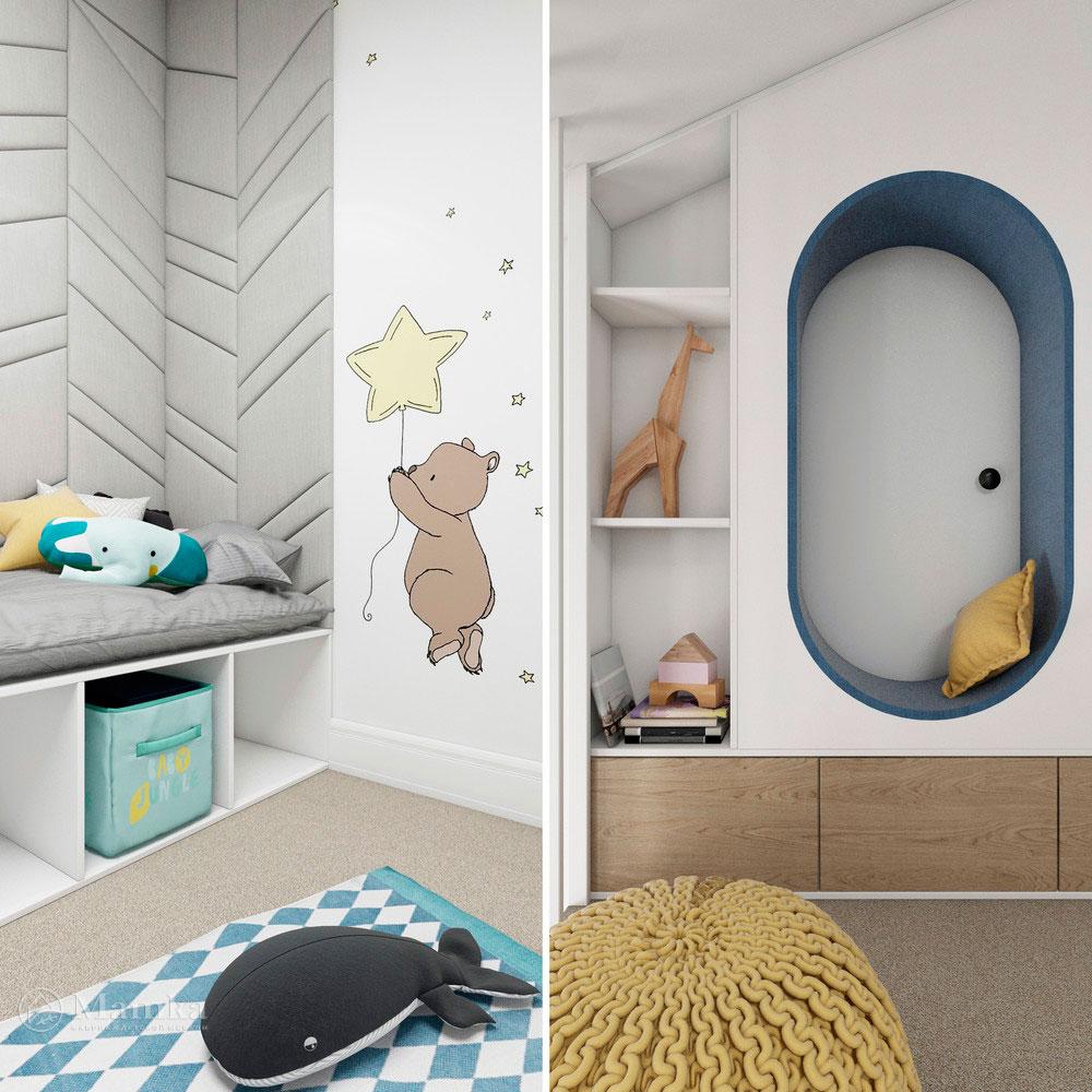 Неординарный дизайн детской комнаты для ребенка 18