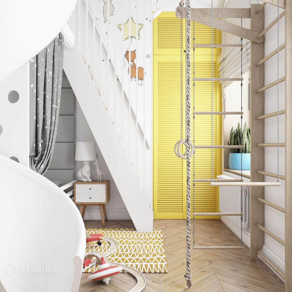 Неординарный дизайн детской комнаты для ребенка 5