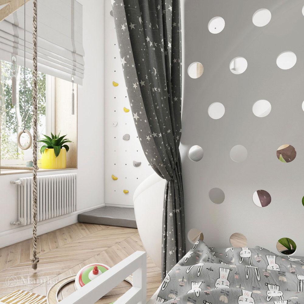 Неординарный дизайн детской комнаты для ребенка 6