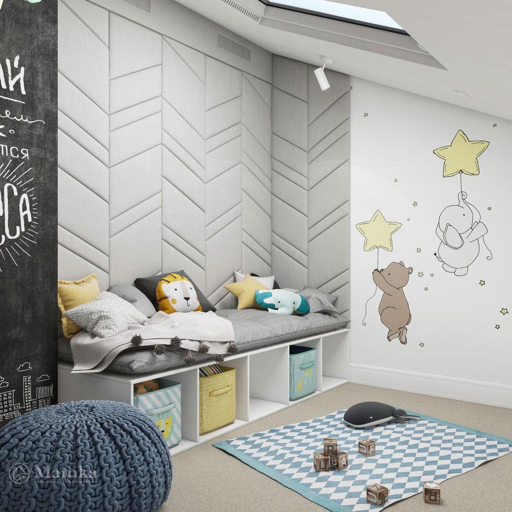 Неординарный дизайн детской комнаты для ребенка 8