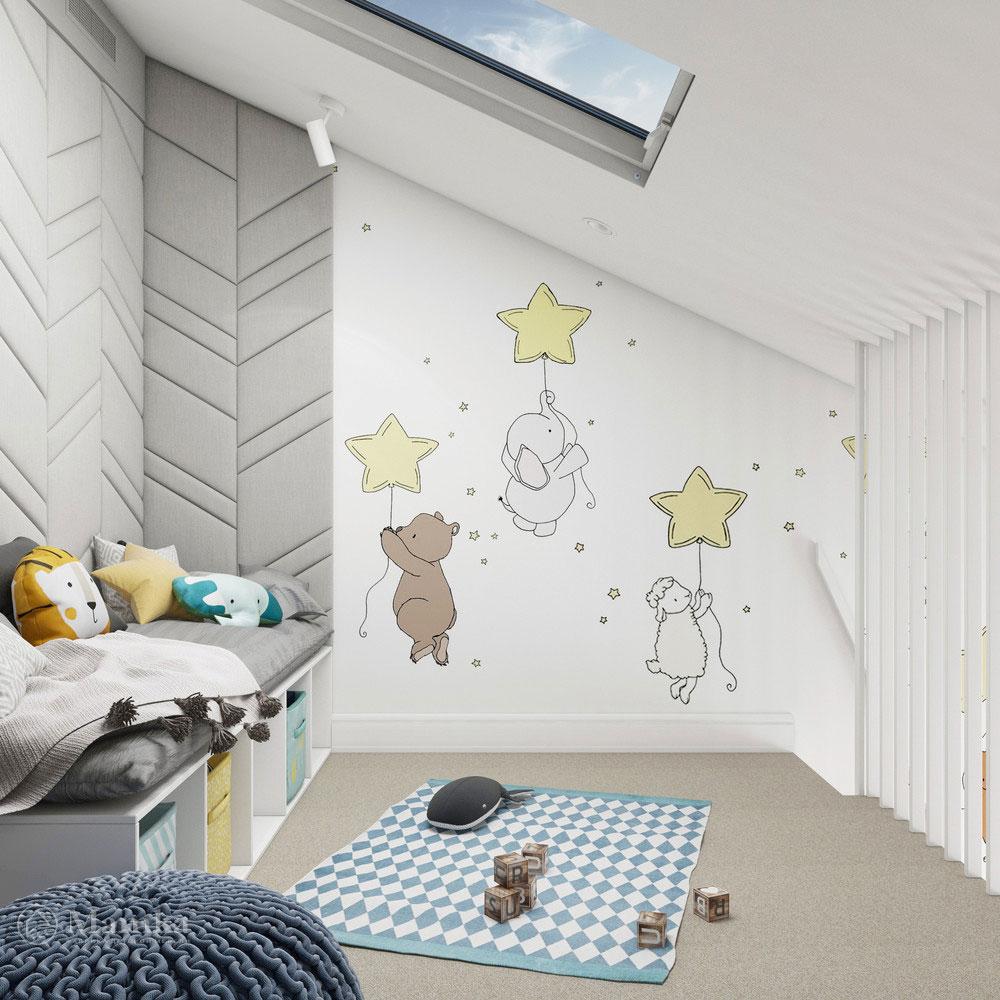 Неординарный дизайн детской комнаты для ребенка 9