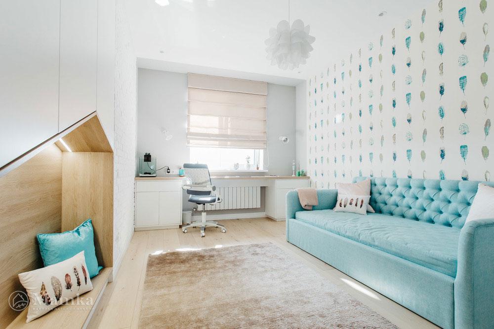 Нестандартный и привлекательный дизайн детской спальни