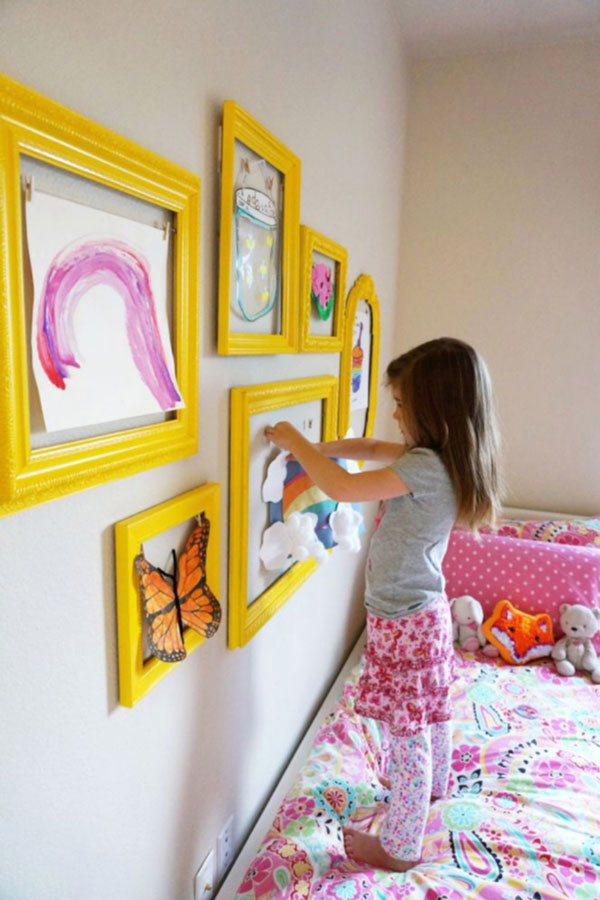 Настенные аппликации в детской комнате