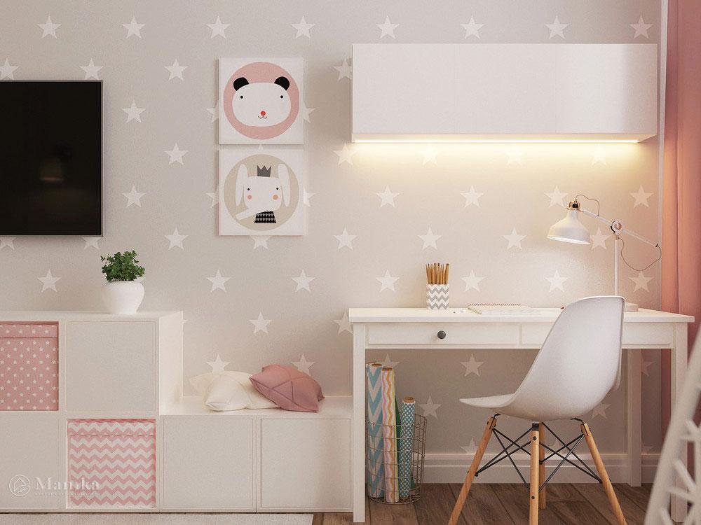Очаровательно нежный дизайн детской комнаты для девочки 2