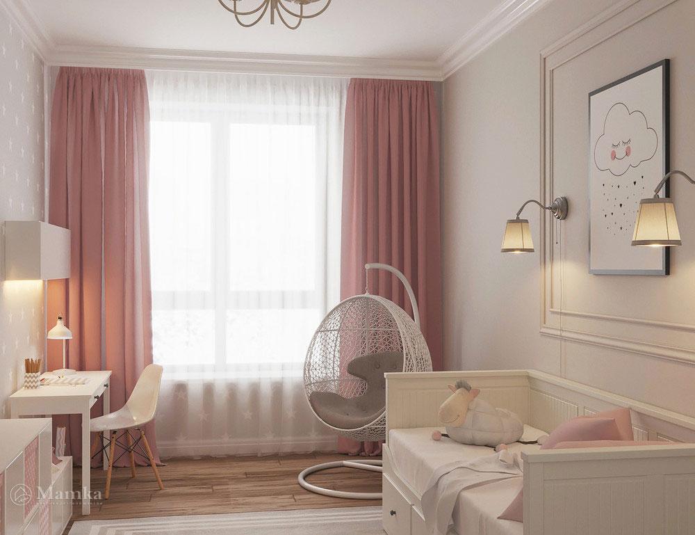 Очаровательно нежный дизайн детской комнаты для девочки фото 3