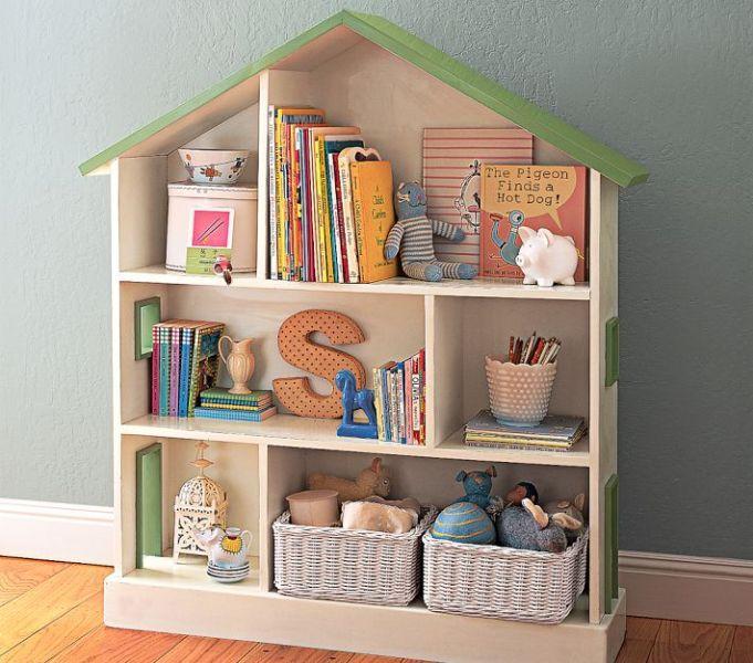 Креативный дизайн полки для детской в виде домика