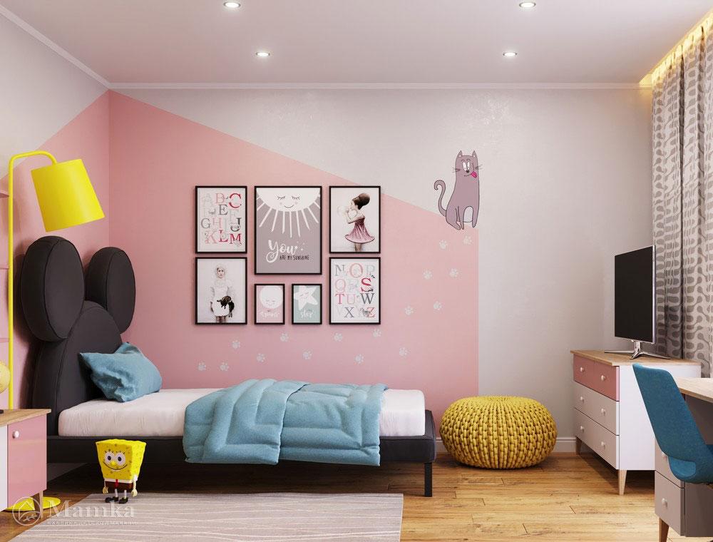 Оригинальный и яркий дизайн интерьера детской для девочки 3