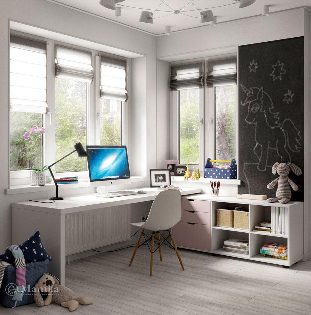 Оригинальный дизайн маленькой детской комнаты для девочки 1