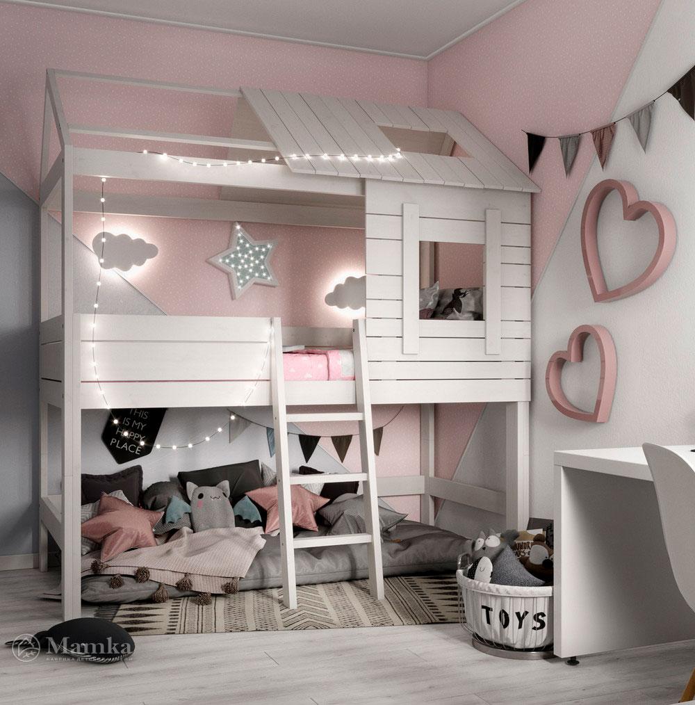 Оригинальный дизайн маленькой детской комнаты для девочки