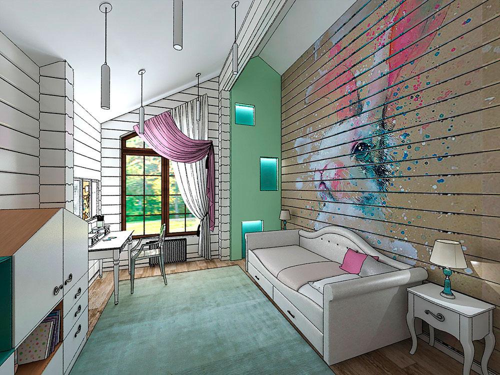 Оригинальный дизайн детской комнаты для девочки 1