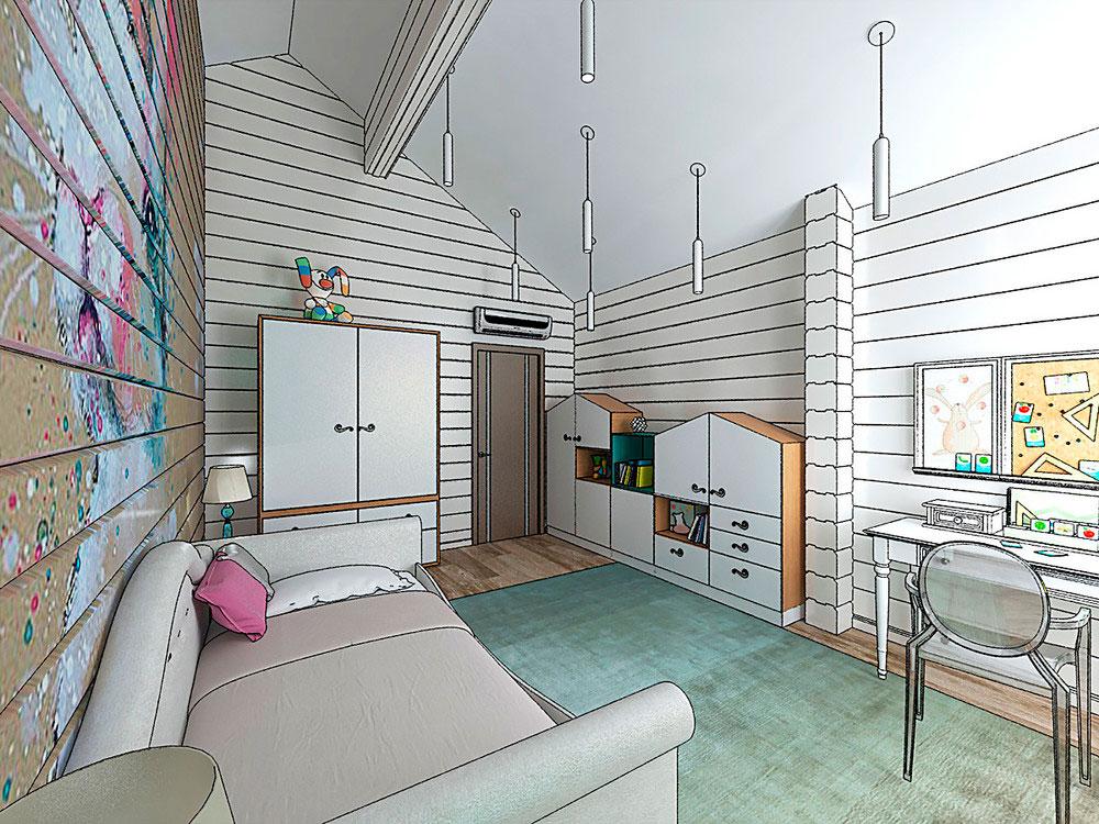 Оригинальный дизайн детской комнаты для девочки 2