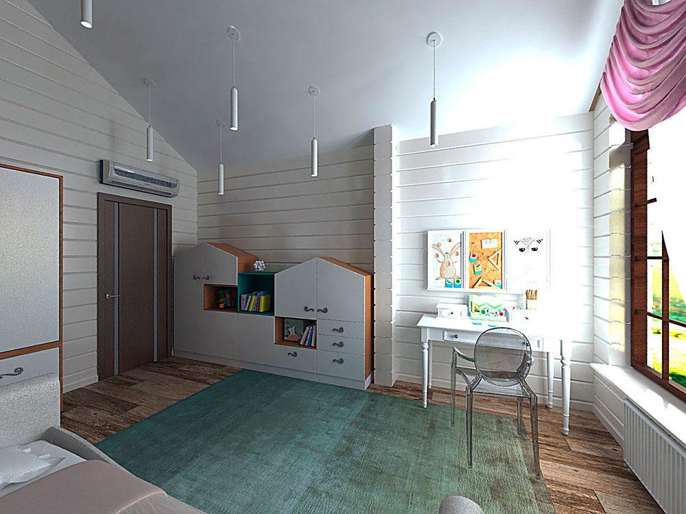 Оригинальный дизайн детской комнаты для девочки