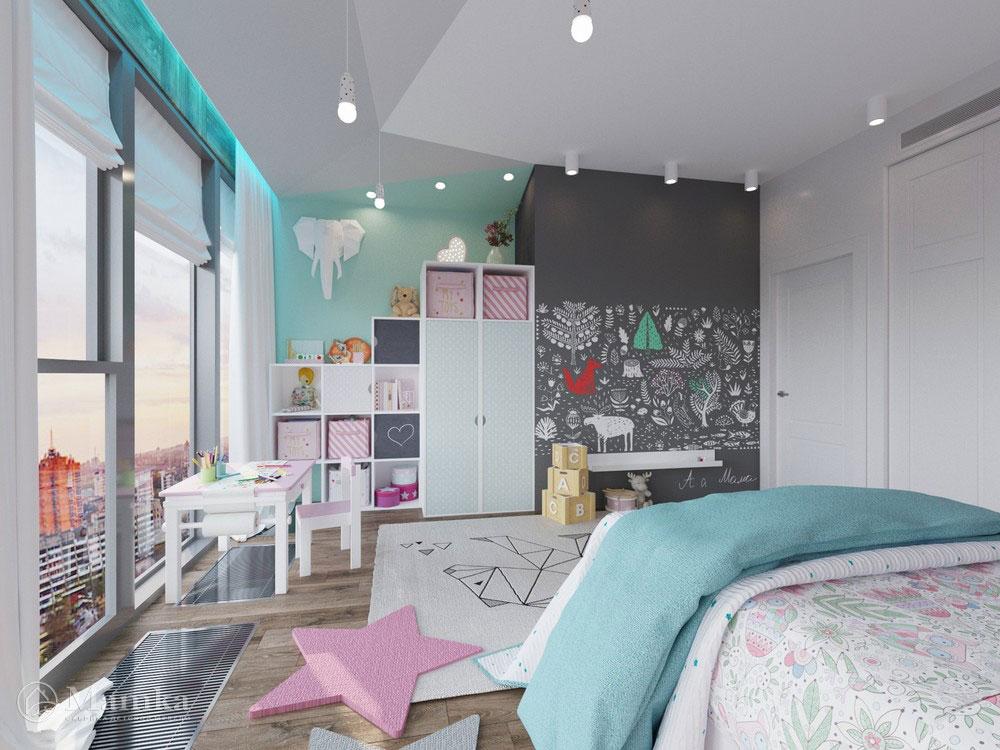 Оригинальный дизайн маленькой детской комнаты для девочки 2