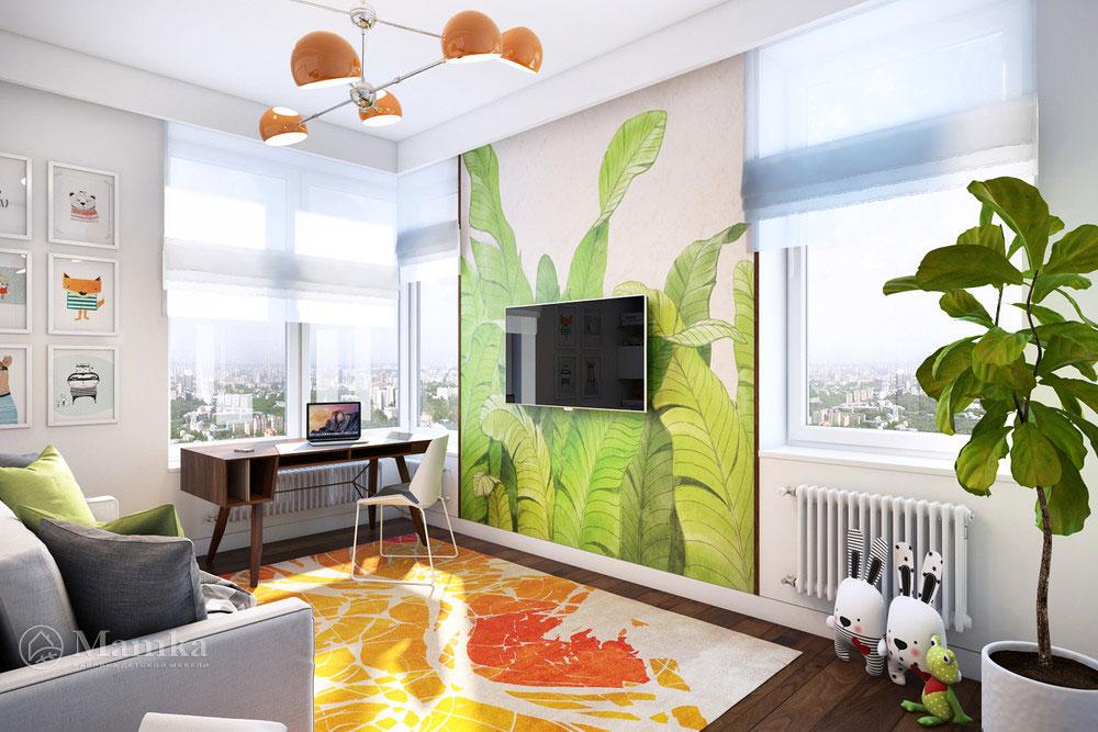 Освежающий  современный дизайн детской комнаты 2
