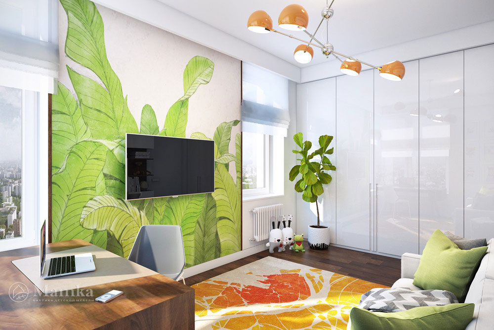 Освежающий  современный дизайн детской комнаты 3