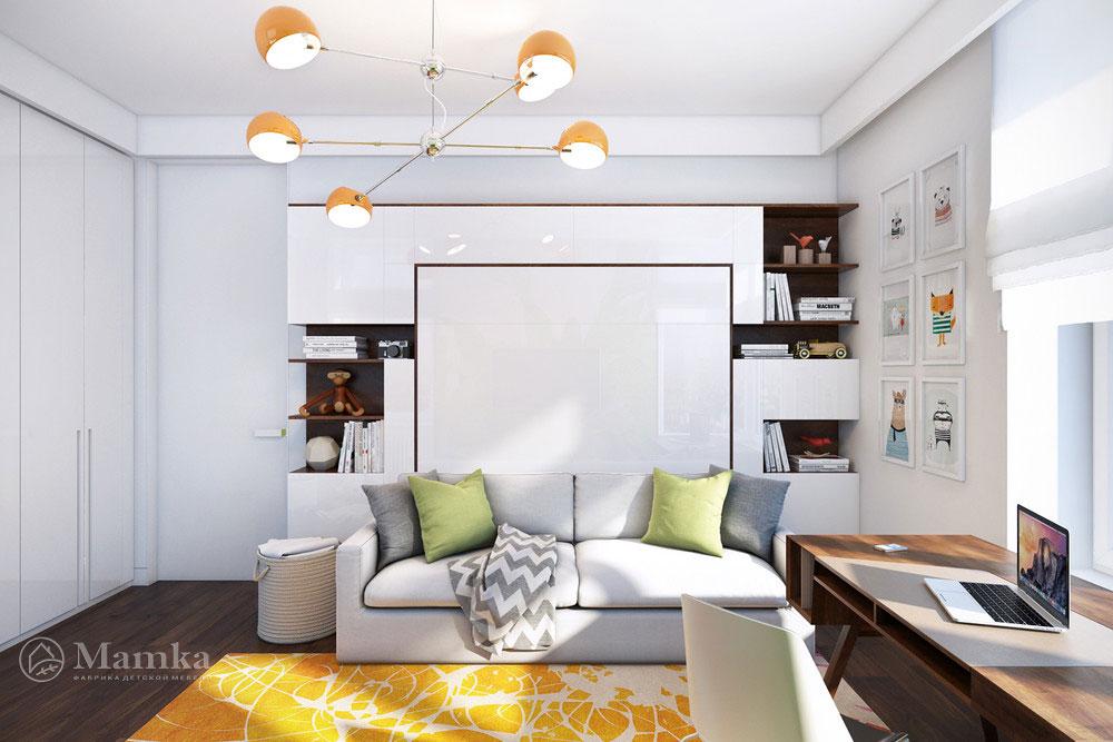 Освежающий  современный дизайн детской комнаты 4