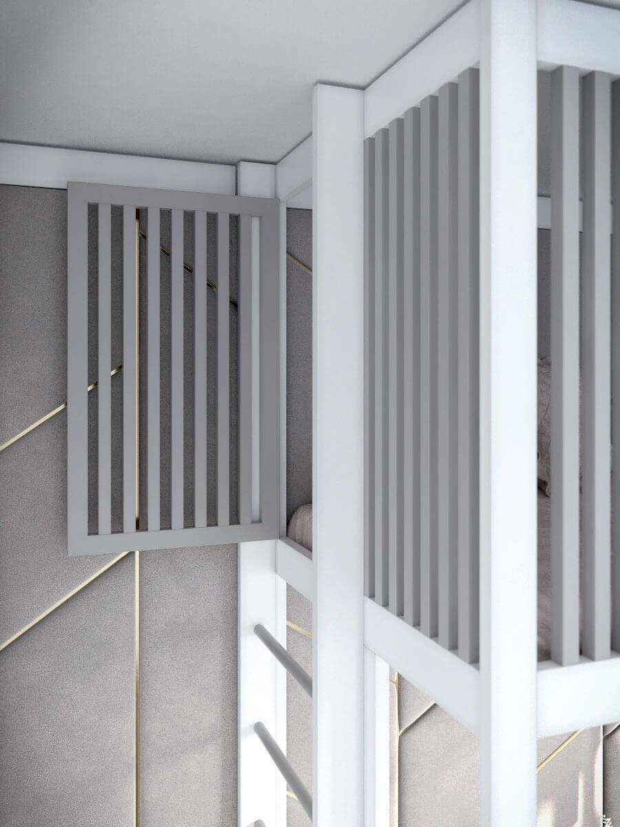 Подростковая мебель в комнату девочки проект 4425-10