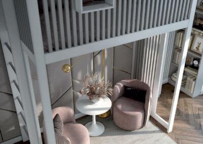 Подростковая мебель в комнату девочки — проект 4425