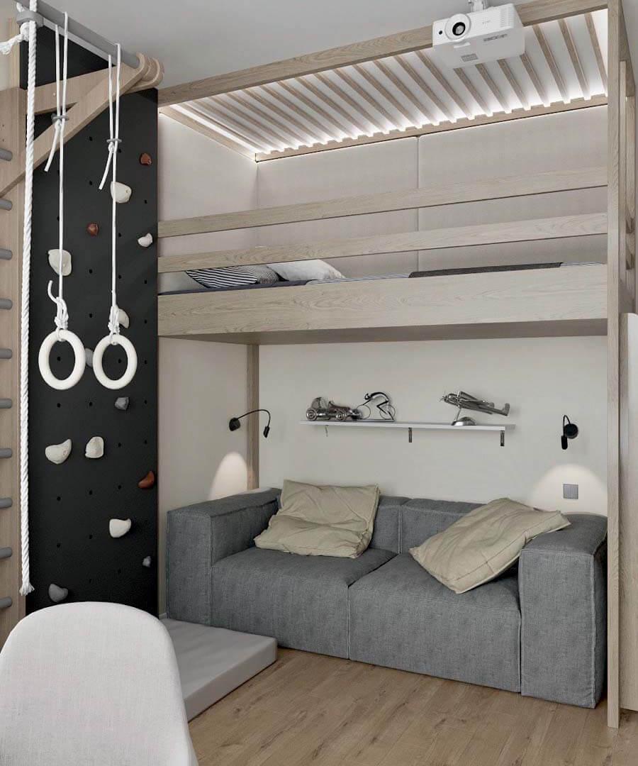 Подростковая мебель в комнату мальчика проект 3671-3